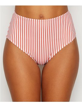 Totally Stripe High Waist Bikini Bottom by Freya
