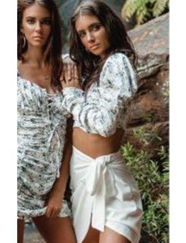 White Wrap Tie Waist Mini Skirt by Prettylittlething