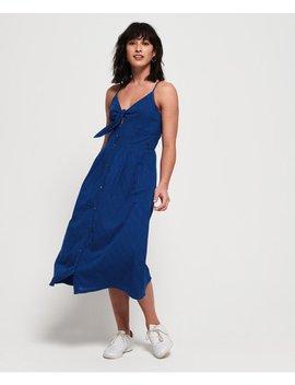 Jayde Tie Front Midi Dress by Superdry