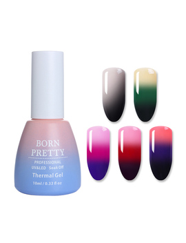 10ml Born Pretty Thermal 3 Colors Gel Temperature Color Changing Nail Art Soak Off Uv Gel Polish by Born Pretty