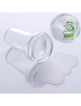 2.4cm Clear Marshmallow Silicone Jelly Stamper & Scraper Manicure Nail Art Tool Set by Born Pretty