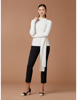 Devin Wool Wrap Pullover by Dvf