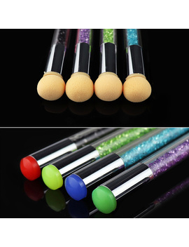 Dual Ended Nail Art Brushes Stamper Sponge Design Rhinestone Handle Brush Blooming Uv Gel Pen by Born Pretty