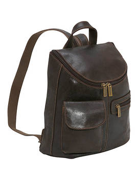 Distressed Leather Womens Backpack/Purse by Le Donne Leather