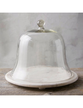 Marble & Glass Cake Cloche by Terrain