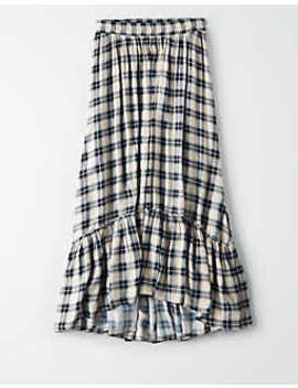 ae-high-waisted-plaid-midi-skirt by american-eagle-outfitters