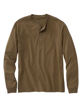Lakewashed Organic Cotton Shirt, Long Sleeve Henley by L.L.Bean