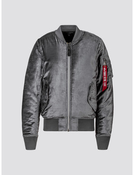 Barneys Ma 1 Slim Fit Velvet by Alpha Industries