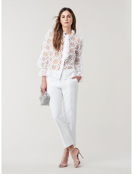 Rosalyn Cotton Eyelet Top by Dvf
