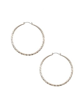 Diamond Textured Hoop Earring by 599 Fashion
