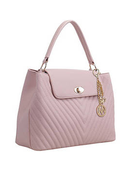 Yasmin Chevron Quilted Satchel by Mkf Collection By Mia K. Farrow