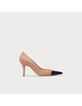 Malia Trench &Amp; Black Leather Heels by L.K.Bennett