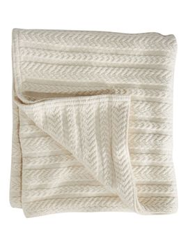 Cotton Cable Sweater Throw by L.L.Bean