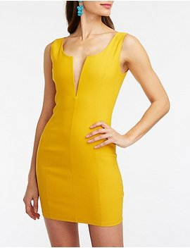 V Wired Bodycon Dress by Charlotte Russe