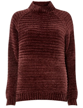 **Vero Moda Burgundy Chenille Design Jumper by Dorothy Perkins