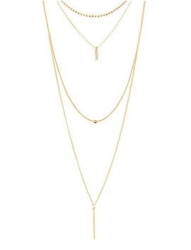 Geometric Pendant Layering Necklace by Charlotte Russe