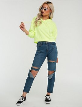 Mid Rise Distressed Skinny Jeans by Charlotte Russe