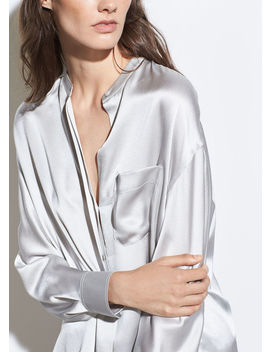 single-pocket-silk-blouse by vince