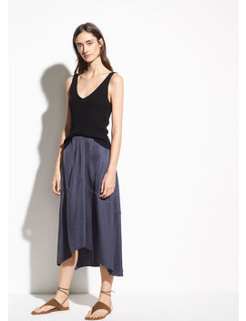 Twist Drape Skirt by Vince
