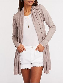 Longline Shawl Cardigan by Charlotte Russe