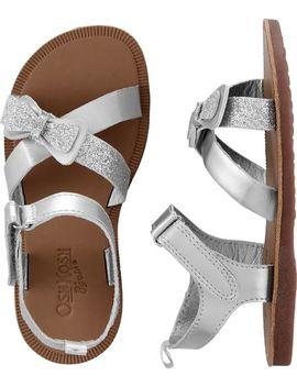 Osh Kosh Silver Sandals by Oshkosh