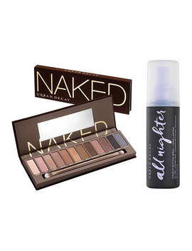 Naked Palette And Setting Spray Set                                 Naked                                 All Nighter by Urban Decay