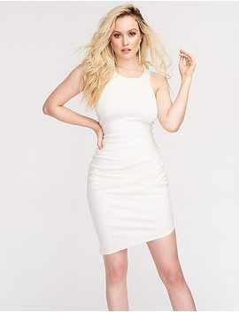 Asymmetrical Ruched Bodycon Dress by Charlotte Russe