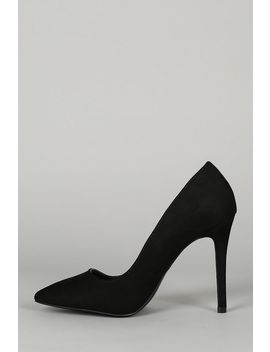 Suede Pointy Toe Stiletto Pump by Urbanog