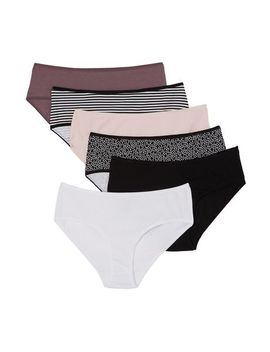 George Women's Hipster Briefs, 6 Pack by George