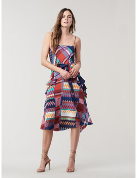 Josie Silk A Line Midi Dress by Dvf