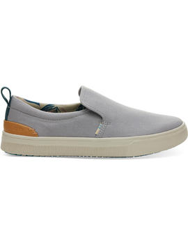 Drizzle Grey Canvas Trvl Lite Women's Slip Ons by Toms