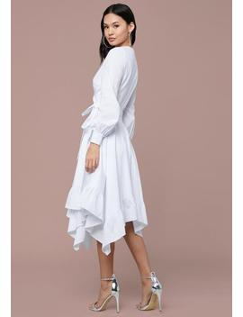 Ruffled Handkerchief Dress by Bebe