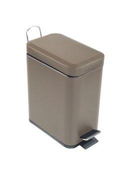 5 L Rectangular Metal Step Garbage Can   Tan by Mon Tex Mills Ltd