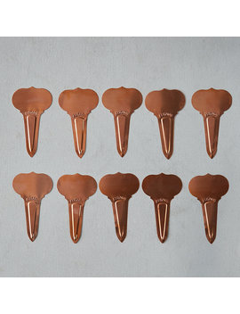 Victorian Stake Copper Plant Markers, Set Of 10 by Terrain