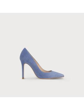 Fern Powder Blue Suede Heels by L.K.Bennett