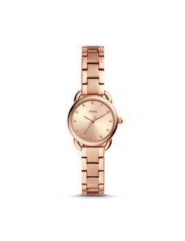 Tailor Mini Three Hand Rose Gold Tone Stainless Steel Watch by Fossil