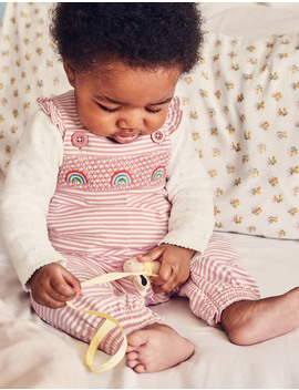 Smocked Jersey Overalls by Boden
