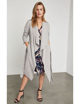 Layla Draped Front Coat by Bcbgmaxazria