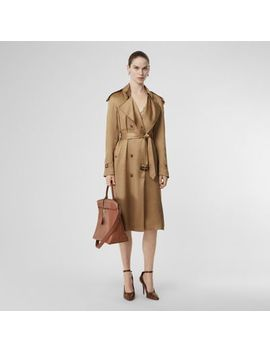 Silk Wrap Trench Coat by Burberry