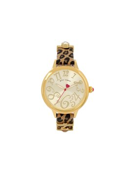 Charm Sliders Leopard Watch Leopard by Betsey Johnson
