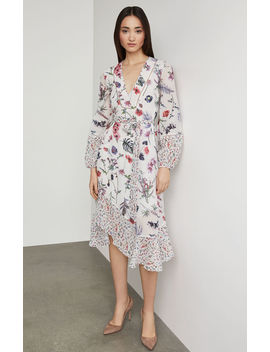 Mixed Wildflowers Asymmetrical Dress by Bcbgmaxazria