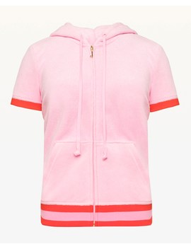 Encrusted Jc Microterry Short Sleeve Robertson Jacket by Juicy Couture