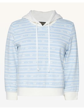 Juicy Cities Jacquard Hooded Pullover by Juicy Couture