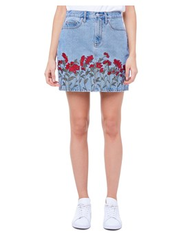 Floral Embroidered Denim Skirt by Juicy Couture