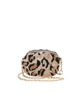 Faux Fuh Belt Bag Crossbody Leopard by Betsey Johnson