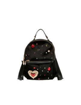 Hearts Afire Backpack Black by Betsey Johnson