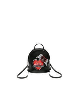 Love Forever Mini Backpack Black by Betsey Johnson