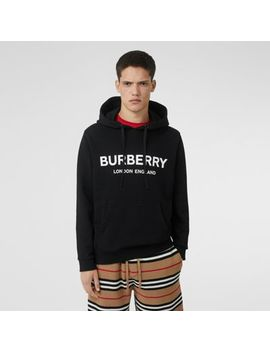 logo-print-cotton-hoodie by burberry