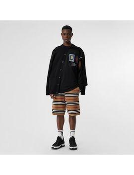 Monogram Motif Merino Wool Drawcord Shorts by Burberry