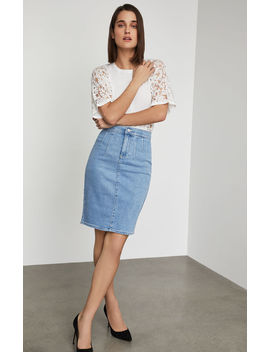 Stretch Denim Pencil Skirt by Bcbgmaxazria